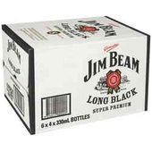 Jim Beam Long Black 7% Stubbies
