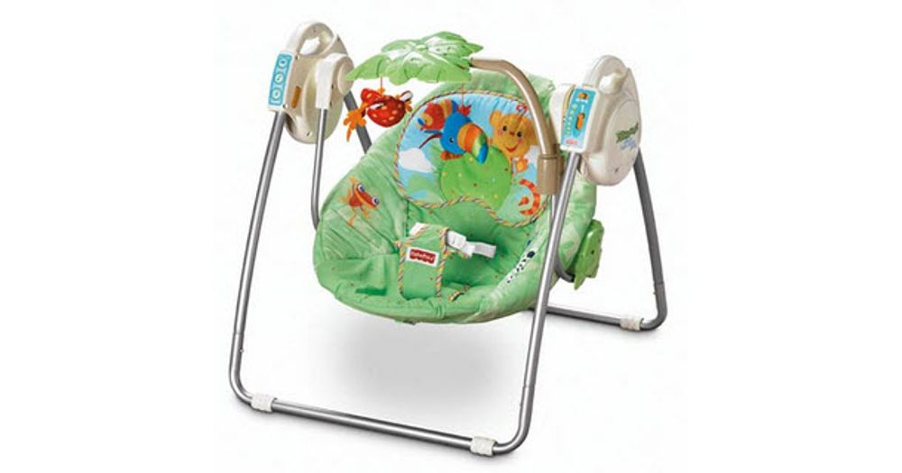 Fisher Price Rainforest Open Top Take Along Swing Reviews