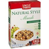 Uncle Tobys Natural Style Muesli