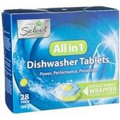 Woolworths Select Dishwasher Tablets All In 1