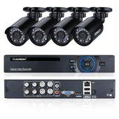 Floureon 8CH &20P AHD DVR with 4 pcs Outdoor 1500TVL
