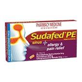 Sudafed PE Sinus Allergy & Pain Relief