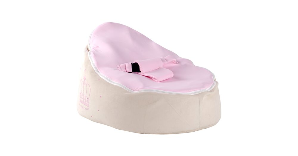 Baby Portable Baby Toddler Bean Bag Kids Seat Pod Resting Feeding Bouncer Chair Pink