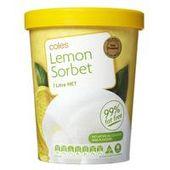 Coles Sorbet 1L