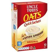 Uncle Tobys Oats Quick Sachets Original